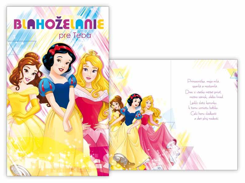 SK Blahoželanie detské M33-078 H Disney (Princess)