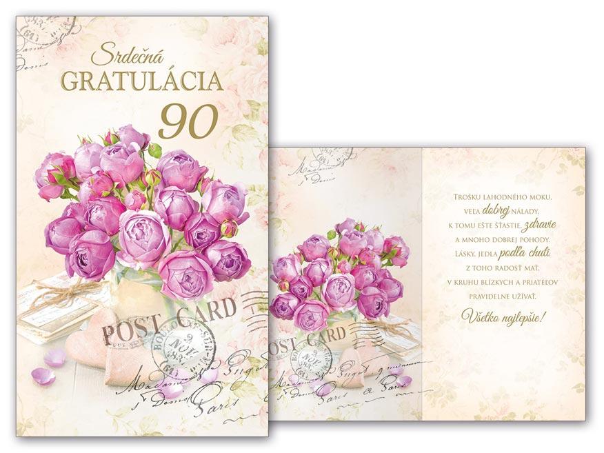 SK Blahoželanie k narodeninám 90 M11-448 H