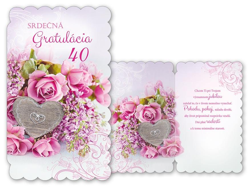 SK Blahoželanie k narodeninám 40 M11-435 H