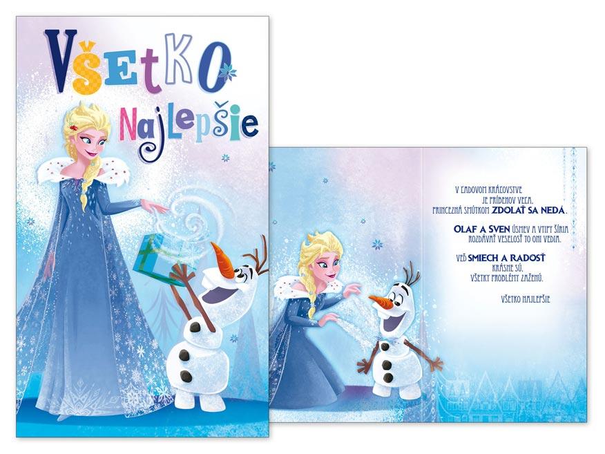 SK Blahoželanie detské M33-085 H Disney (Frozen)