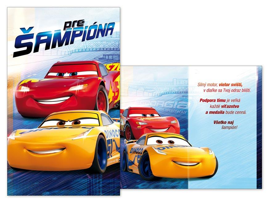 SK Blahoželanie detské M33-086 H Disney (Cars)