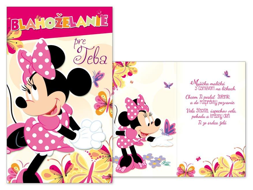 SK Blahoželanie detské M33-087 H Disney (Minnie)