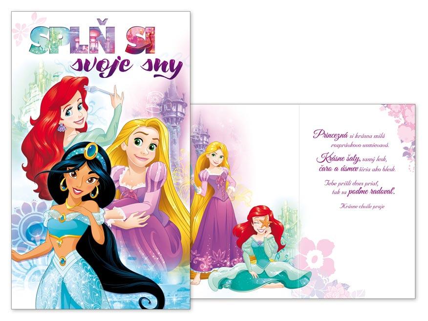 SK Blahoželanie detské M33-088 H Disney (Princess)