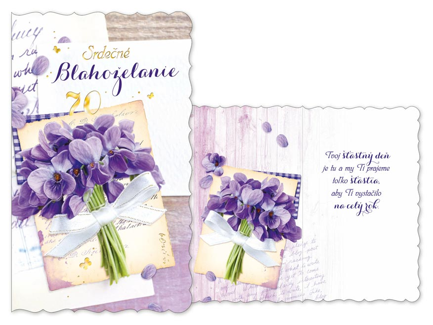 SK Blahoželanie k narodeninám 70 M11-461 H