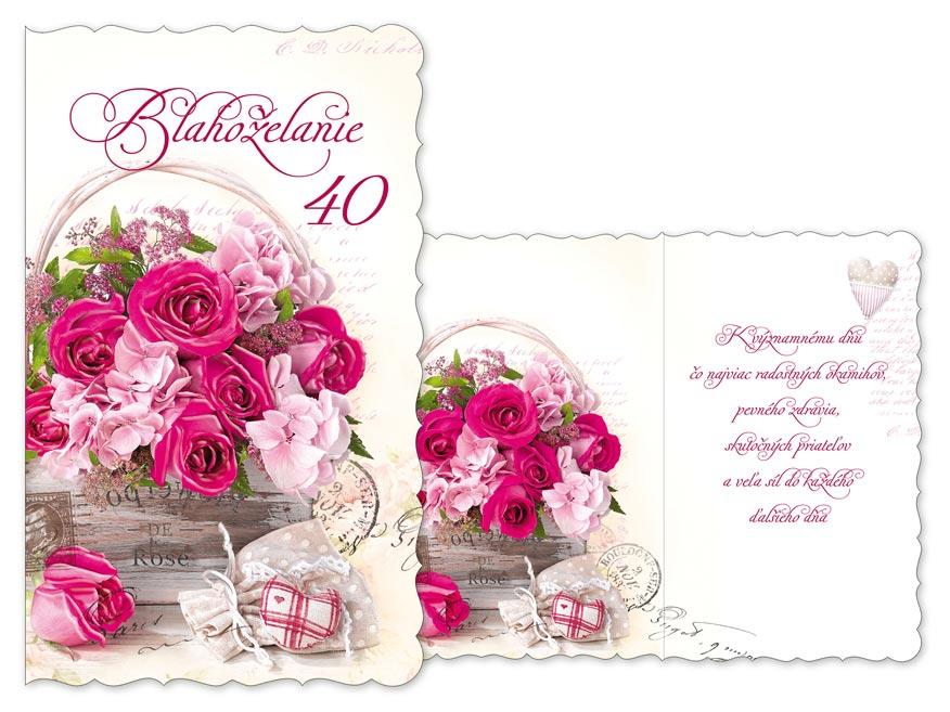 SK Blahoželanie k narodeninám 40 M11-466 H