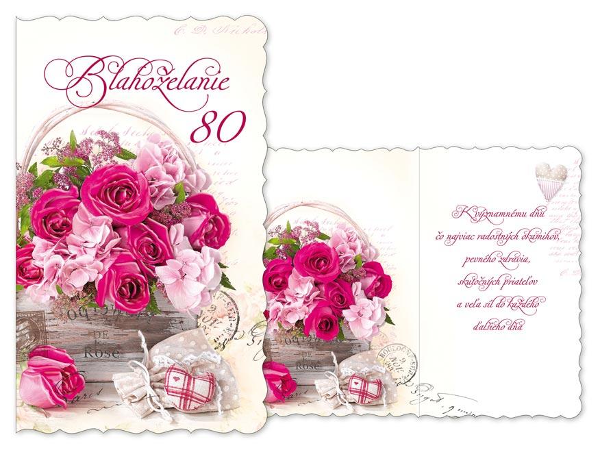 SK Blahoželanie k narodeninám 80 M11-466 H