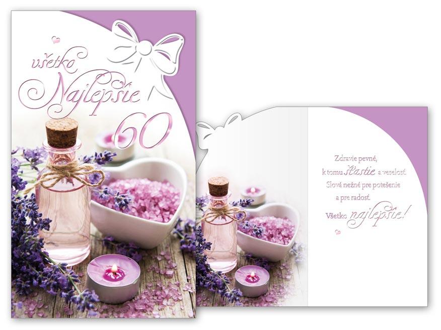 SK Blahoželanie k narodeninám 60 M11-492 H