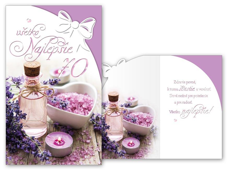 SK Blahoželanie k narodeninám 70 M11-492 H