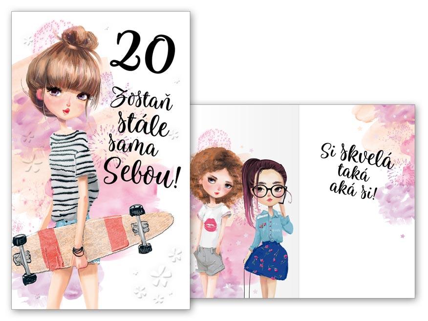 SK Blahoželanie k narodeninám 20 M11-495 H