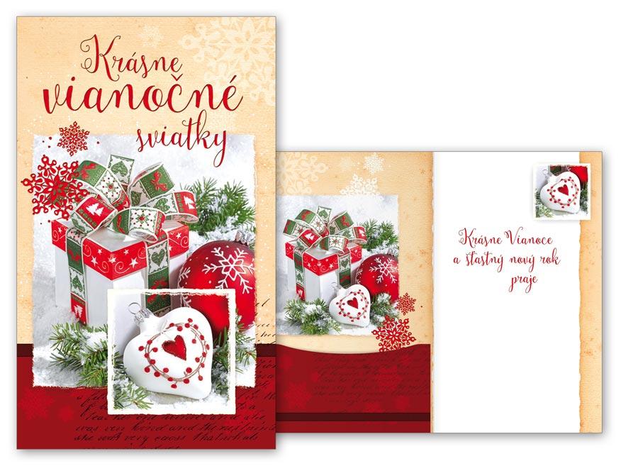 sK Blahoželanie vianočné V24-386 H na peniaze PRANI_H_403