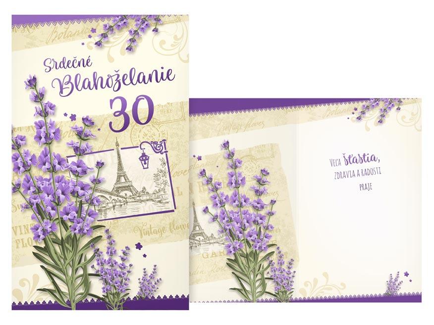 MFP PRANI H 451 SK Blahoželanie k narodeninám 30 M11-499 H