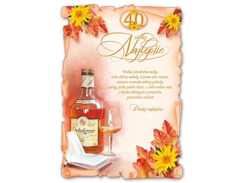 SK Blahoželanie k narodeninám A4 M03-028 (40) (S) L