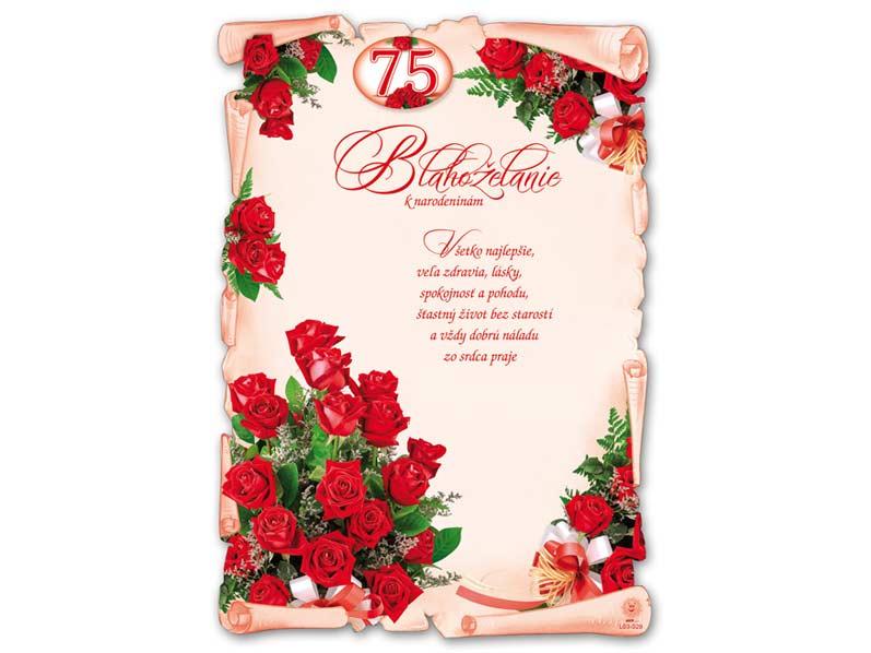 SK Blahoželanie k narodeninám A4 M03-029 (75) (S) L