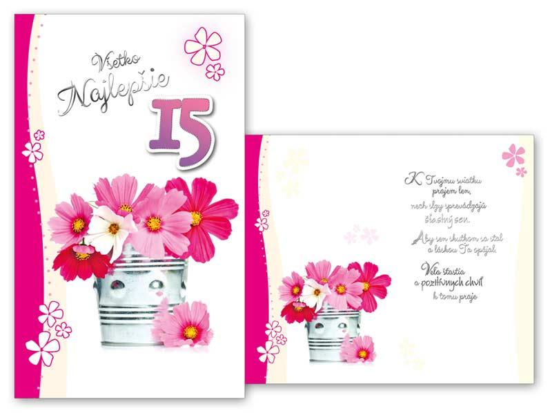 SK Blahoželanie k narodeninám 15 M11-387 T