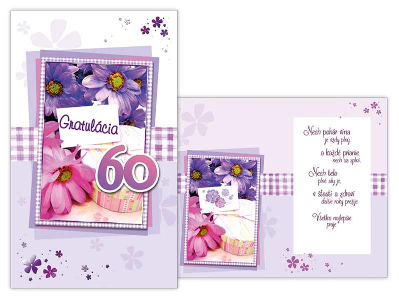 SK Blahoželanie k narodeninám 60 M11-390 T