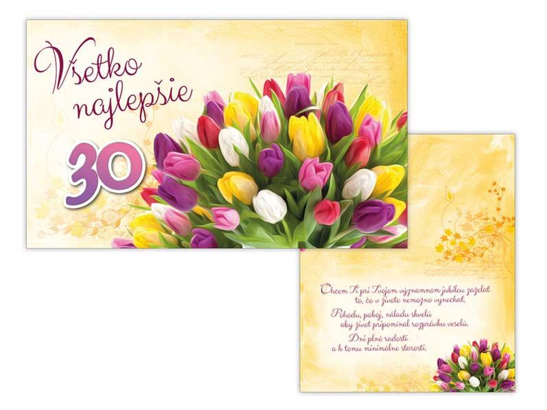 SK Blahoželanie k narodeninám 30 M11-392 T