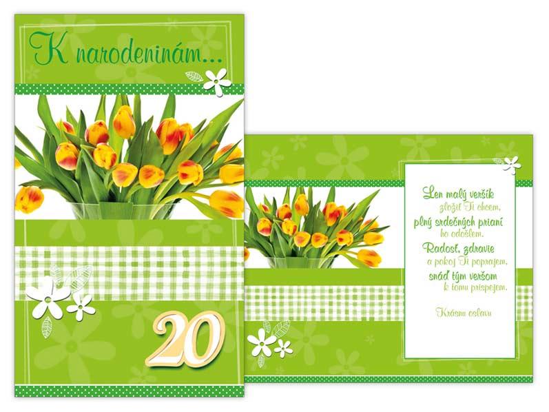 SK Blahoželanie k narodeninám 20 M11-394 T