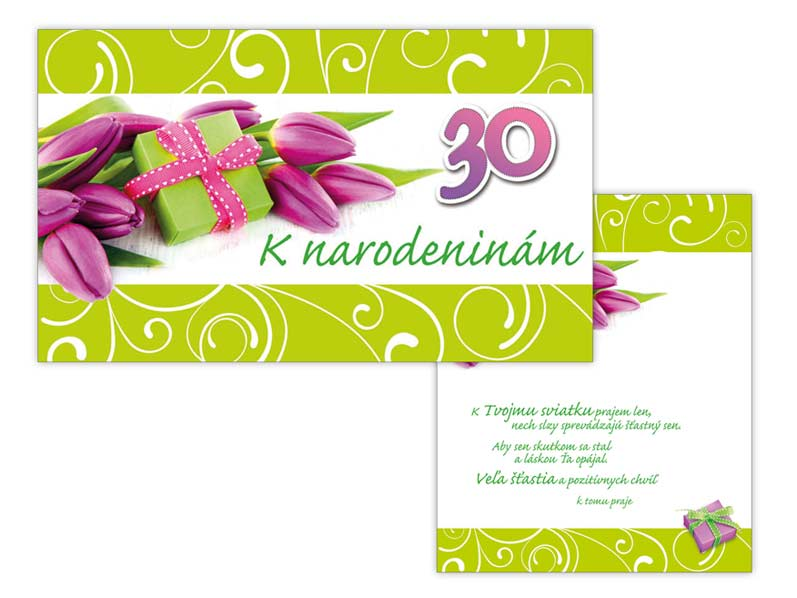 sK Blahoželanie k narodeninám 30 M11-402 T PRANI_T_1311
