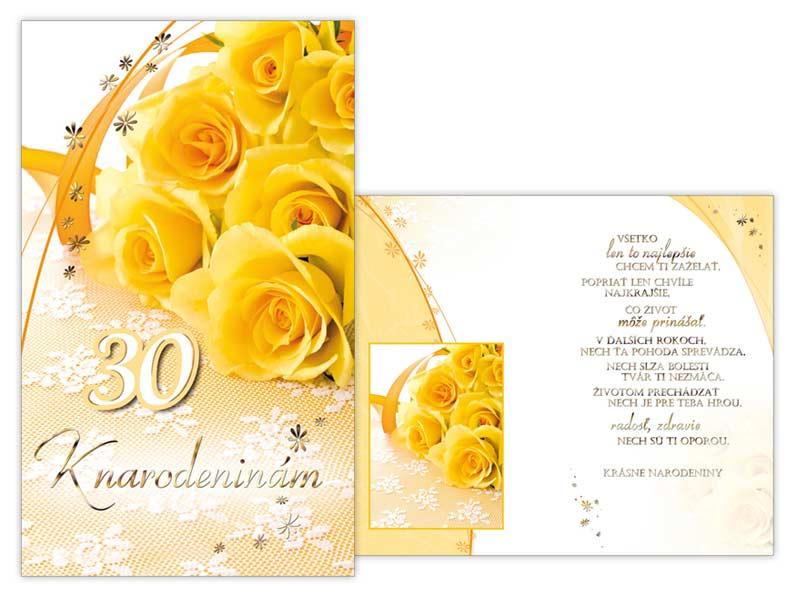 SK Blahoželanie k narodeninám 30 M11-405 T
