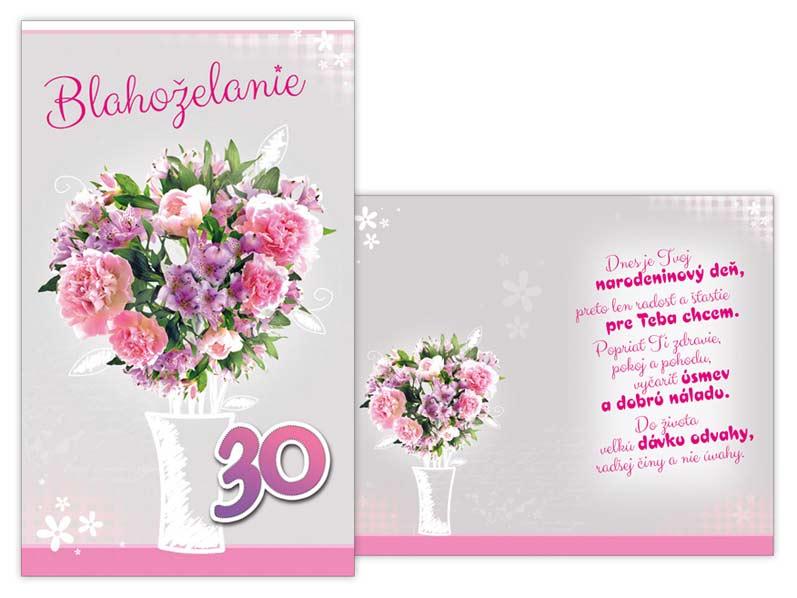 SK Blahoželanie k narodeninám 30 M11-393 T
