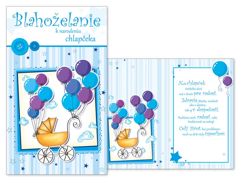 SK Blahoželanie k narodeniu bábätka M07-053 T