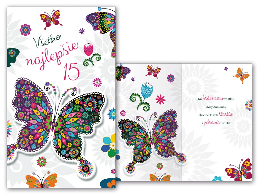 SK Blahoželanie k narodeninám 15 M11-446 T