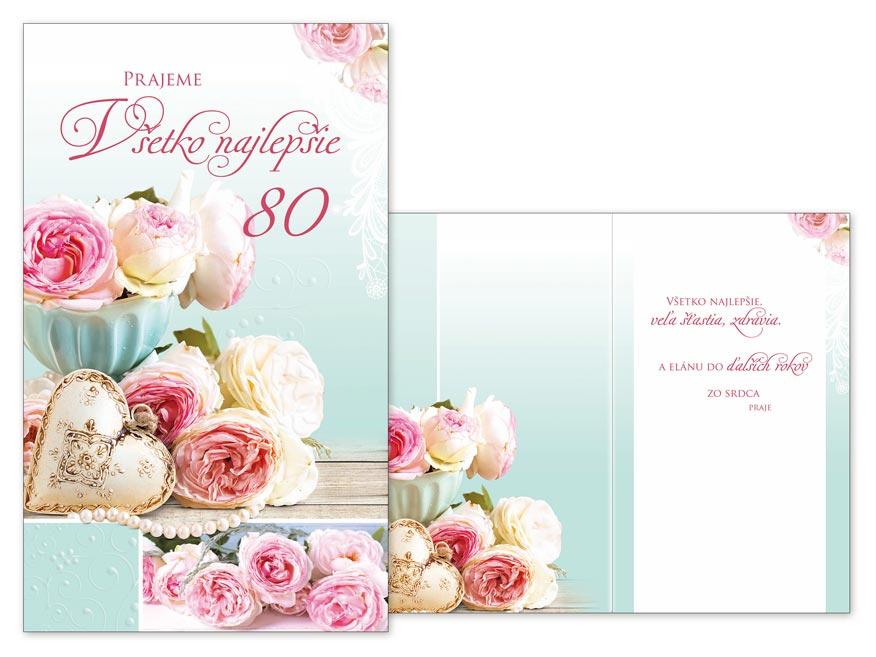 SK Blahoželanie k narodeninám 80 M11-460 T