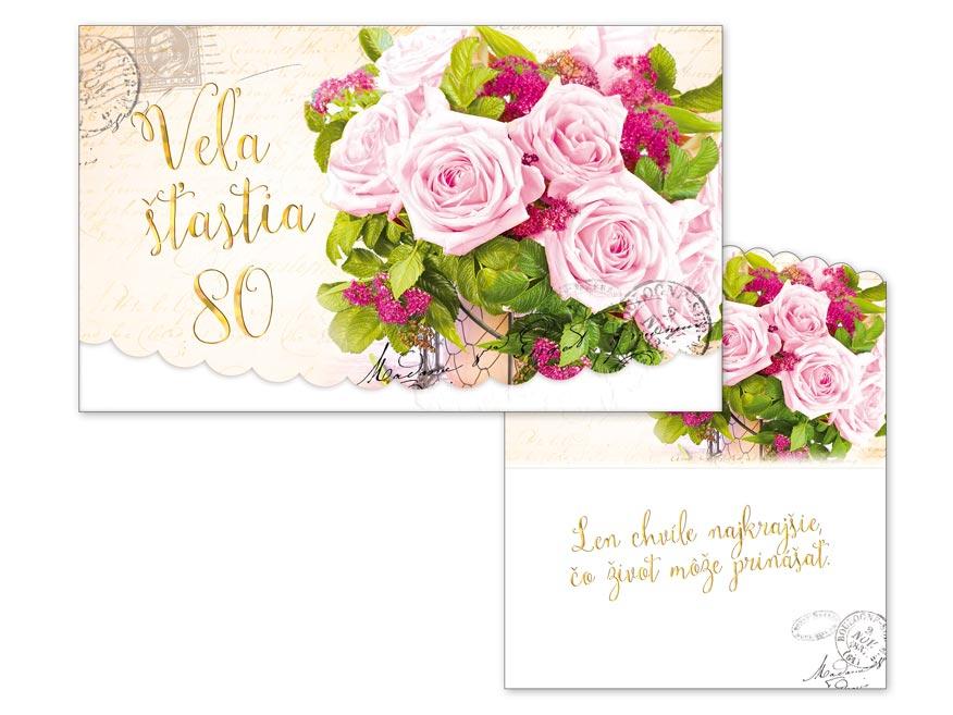 SK Blahoželanie k narodeninám 80 M11-465 T