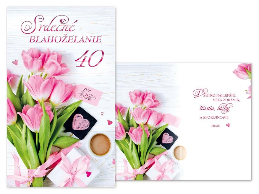 SK Blahoželanie k narodeninám 40 M11-469 T