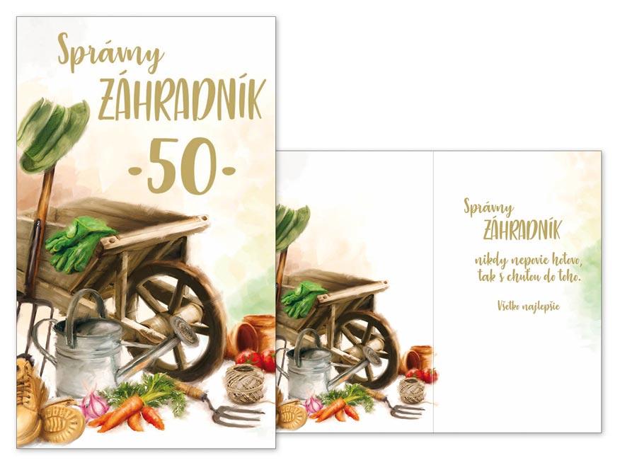 SK Blahoželanie k narodeninám 50 M11-484 T