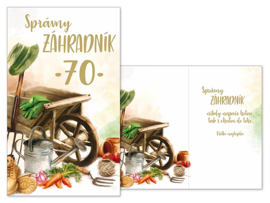 SK Blahoželanie k narodeninám 70 M11-484 T