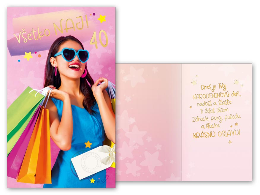 sK Blahoželanie k narodeninám 40 M11-488 T PRANI_T_1865