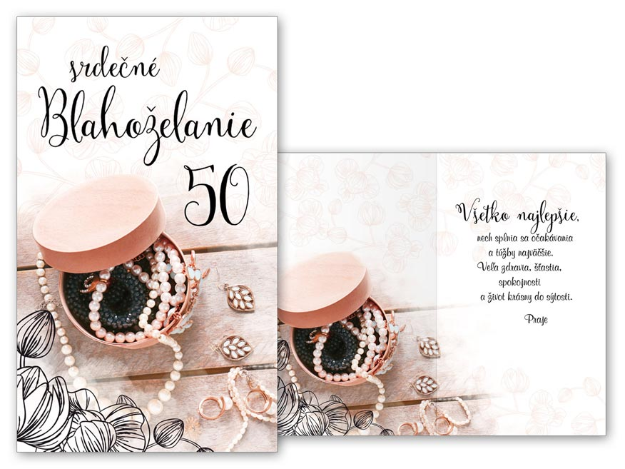 SK Blahoželanie k narodeninám 50 M11-493 T