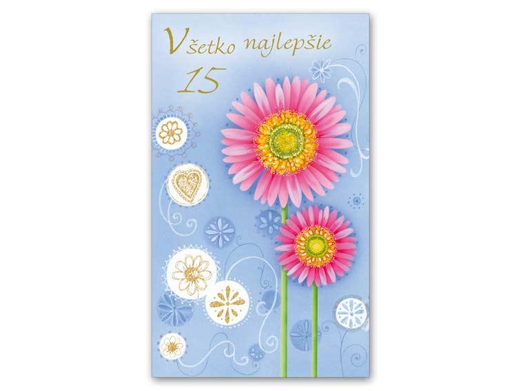 SK Blahoželanie k narodeninám 15 M11-318 T
