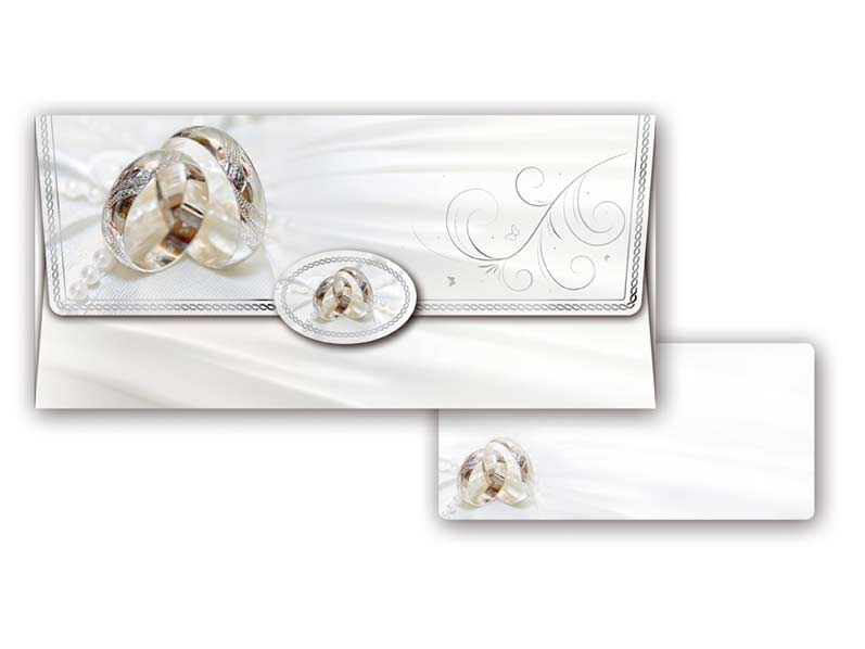 Obálka na peniaze svadobná 55-010 W