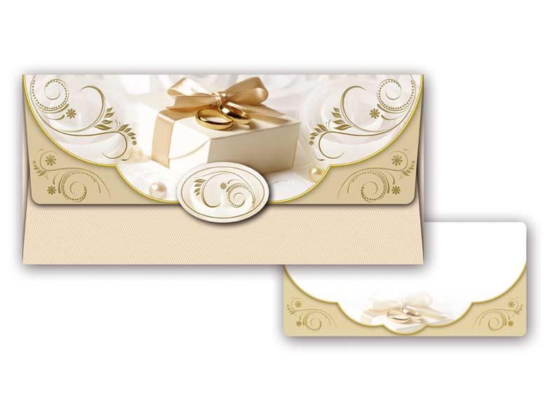 Obálka na peniaze svadobná 55-013 W