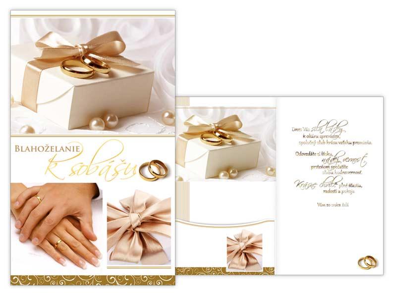 SK Blahoželanie svadobné M16-107 W