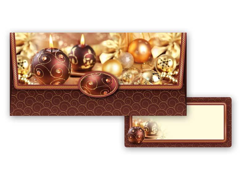 Obálka na peniaze vianočná 88-009 W