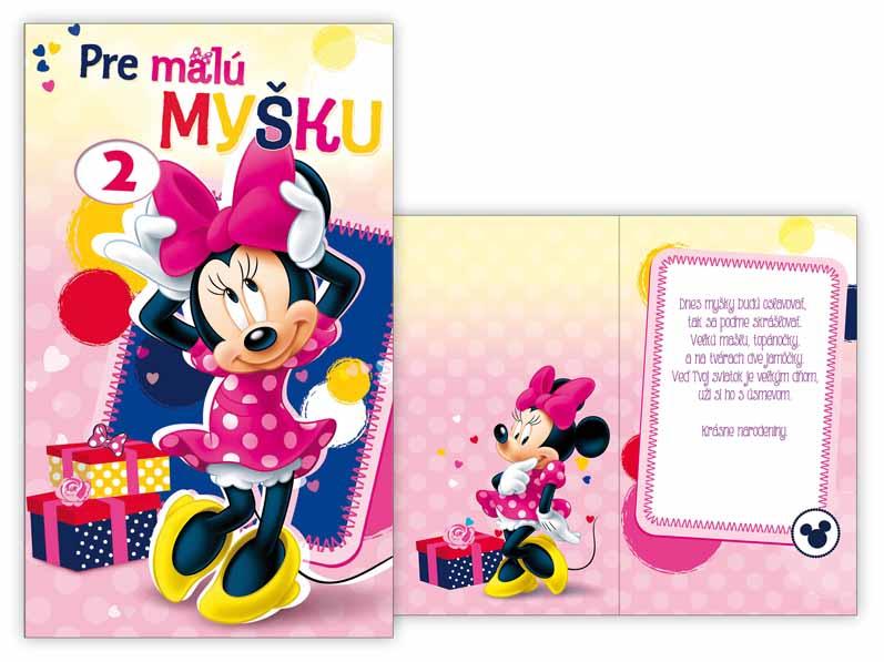 SK Blahoželanie k narodeninám otočné, detské M33-080 W Disney (Minnie)