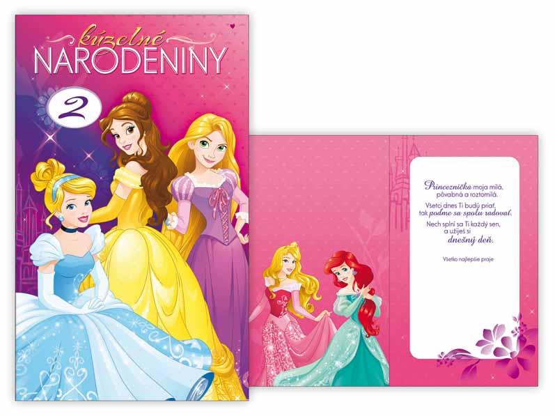 SK Blahoželanie k narodeninám otočné, detské M33-082 W Disney (Princess)