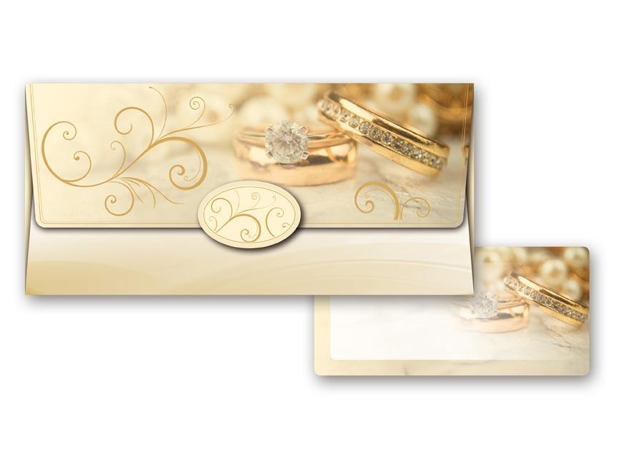 Obálka na peniaze svadobná 55-033 W