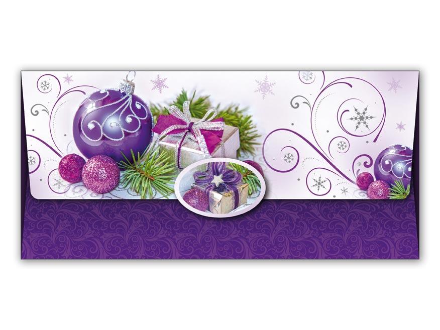 Obálka na peniaze vianočná 88-013 W