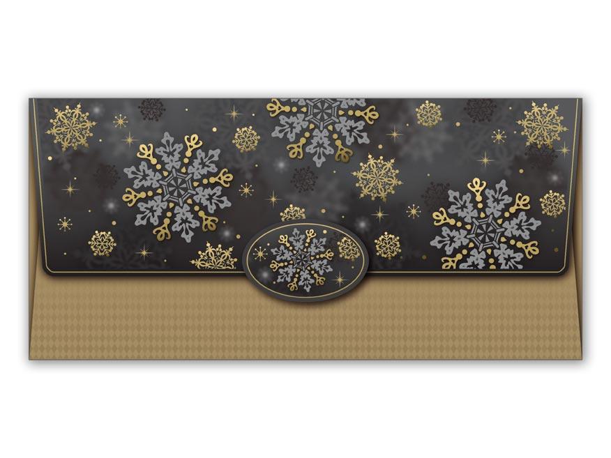 Obálka na peniaze vianočná 88-014 W