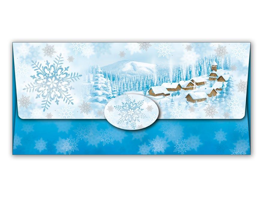 Obálka na peniaze vianočná 88-015 W