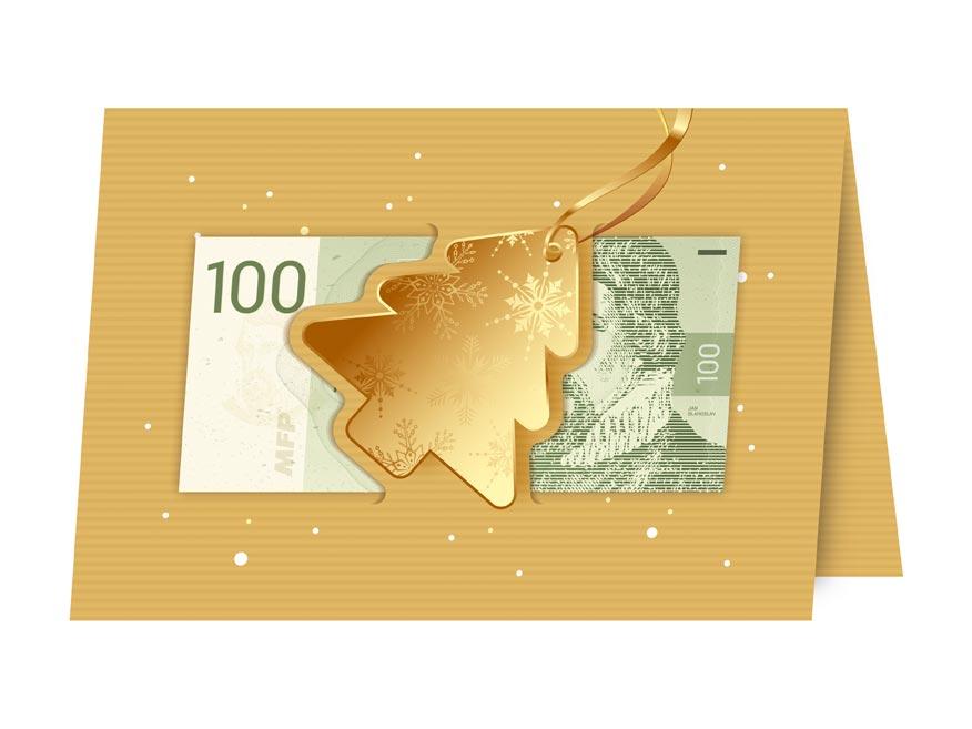 Blahoželanie vianočný V24- 384 W (výsek na peniaze)