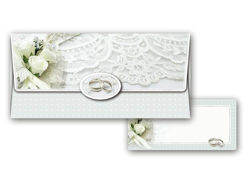 Obálka na peniaze svadobná 55- 036 W