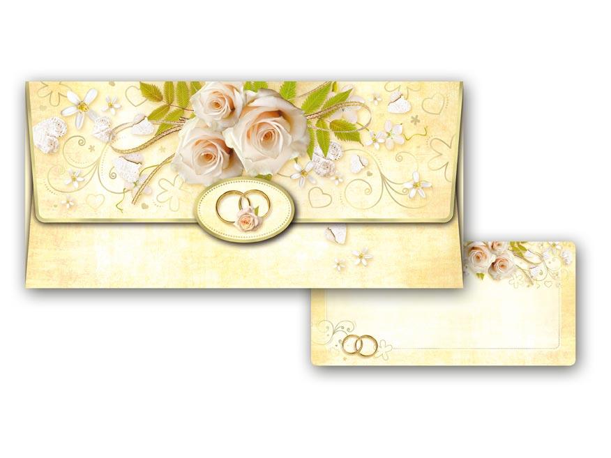 Obálka na peniaze svadobná 55- 037 W