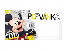 Pozvánka Y15 Disney Mickey (10ks) (190x100mm)